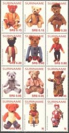 Suriname Republiek 1308/1319 Teddyberen 2005 Postfris