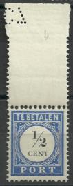 Port  13 ½ ct 1894/1910 Cijfer en Waarde in Type I met pons Postfris