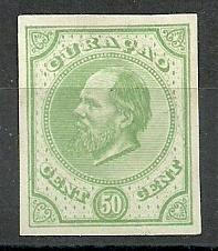 Curaçao   6b  groen 50ct Berlijnse Kleurproef Ongebruikt (1)