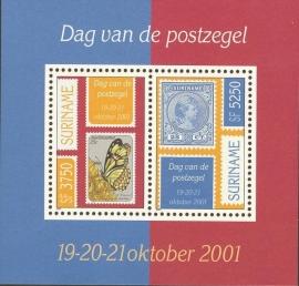 Suriname Republiek 1128 Blok Dag van de Postzegel 2001 Postfris