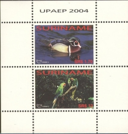 Suriname Republiek 1280 Blok UPAEP 2004 Postfris