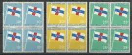 Nederlandse Antillen 304/306 in blokken van 4 Postfris