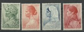 Suriname 190/193 Weldadigheidszegels Postfris