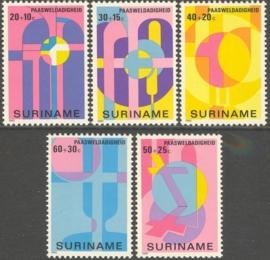 Suriname Republiek 200/204 Paasweldadigheid 1980 Postfris