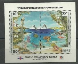 Nederlandse Antillen 1070 Blok Phila Korea Postfris
