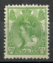 Nvph  68 20 ct  Koningin Wilhelmina Bontkraag Ongebruikt (6)