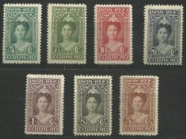 Curacao  75/81 25 Jarig Regeringsjubileum Ongebruikt (2)