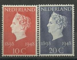 Nvph 504/505 Jubileumzegels Postfris