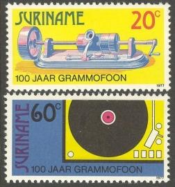 Suriname Republiek  89/90 100 Jaar Grammofoon 1977 Postfris