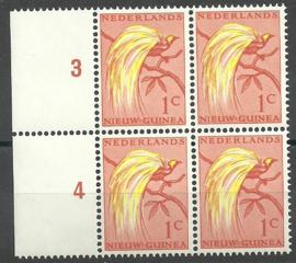Nederlands Nieuw Guinea 25 PM4 in blok Postfris