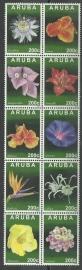 Aruba 700/709 Tropische Bloemen 2013 Postfris