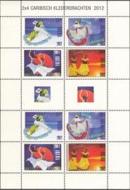 Aruba V613/616 Caribische Klederdracht 2012 Postfris (Compleet Vel)