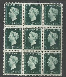 Nederlands Indië 339 PM1 in blok Postfris