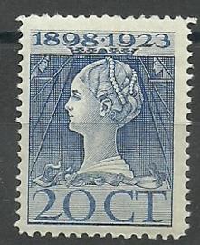 Nvph 125H (11½×12½) 20 ct Jubileum 1923  Postfris (2)