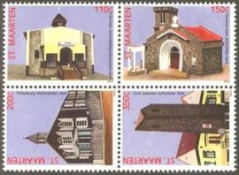Sint Maarten 124/127 Kerken 2013 Postfris