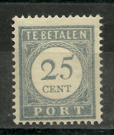 Port  59 25 ct 1912/1920 Cijfer en Waarde blauw Ongebruikt (3)