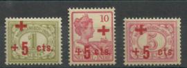 Nederlands Indië 135/137 Rode Kruis uitgifte Postfris (1)