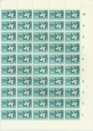 Nvph 843 postfris in heel secundair vel van 100 met plaatfouten