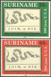 Suriname Republiek  41/42 200 Jaar USA 1976 Postfris