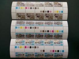 Nederlandse  Antillen 556a/558a Postfris (in complete strip)