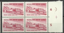 Nederlands Nieuw Guinea 68 PM1 in blok Postfris