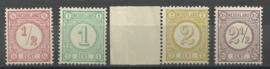 Nvph  30b/33a Cijferzegels 1894 Postfris (2) + Certificaat