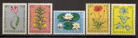 Nvph  738/742 Zomerzegels 1960 Postfris