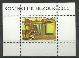 Caribisch Nederland  18 Blok Koninklijk Bezoek 2011 Postfris