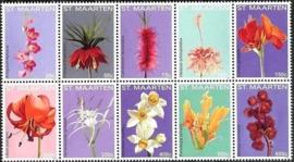 Sint Maarten 292/301 Bloemen 2015 Postfris