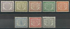 Nederlands Indië  40/47 Cijferzegels 1902/1909 Postfris (1)