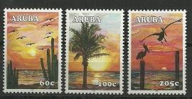 Aruba 340/342 Zonsondergang Postfris