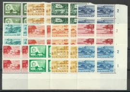 Suriname LP35/LP46  in hoekblokken van 4 Postfris
