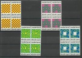 Nvph. 1038/1041 Kinderzegels 1973 in Blokken Postfris