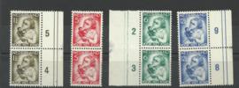 Nvph 270/273 Kinderzegels 1934 in paren Postfris (1)