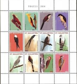 Sint Maarten 208/219 Vogels 2014 Postfris