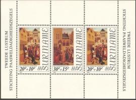 Suriname Republiek  26 Blok Paasweldadigheid 1976 Postfris