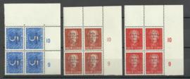 Nieuw Guinea 22/24 Watersnoodzegels Postfris (Hoekblokken van 4)