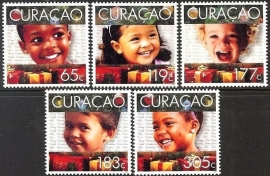 Curaçao Status Aparte 262/266 Kerstzegels 2014 Postfris