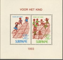 Suriname Republiek  790 Blok Kinderzegels 1993 Postfris