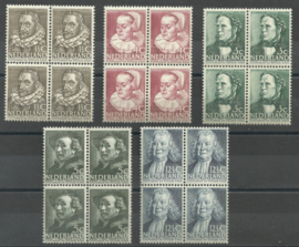 Nvph 305/309 Zomerzegels 1938 Blokken van 4 Postfris (2)