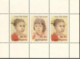 Suriname Republiek 279 Blok Kinderzegels 1981 Postfris