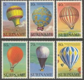 Suriname Republiek 368/373 200 Jaar Ballonvaart 1983 Postfris