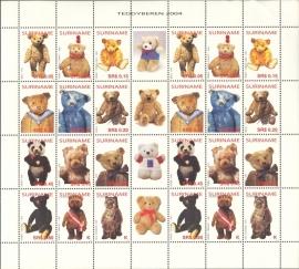 Suriname Republiek 1239/1250 Teddyberen 2004 Postfris (Compleet Vel)