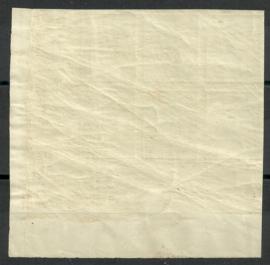 Nvph  83 10 ct  Wilhelmina Ongetand in Hoekblok van 6 Postfris