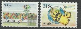 Aruba 361/362 Wereldkampioenschappen Voetbal Postfris