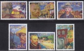 Curaçao Status Aparte 287/292 125ste Sterfjaar Vincent van Gogh 2015 Postfris