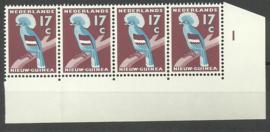 Nederlands Nieuw Guinea 56 PM2 in strip van 4 Postfris