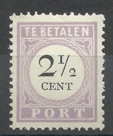 Suriname P  9 2½ct Type I Ongebruikt (1)