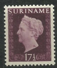 Suriname 263 P 17½ ct Wilhelmina Hartz Ongebruikt