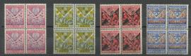 Nvph 208/211 Kinderzegels 1927 in blokken van 4 Postfris (1)